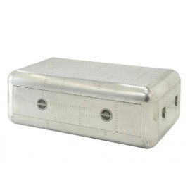 Aluminum Rectangle Aircraft Coffee Table Trunk