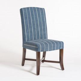 Indigo Blue Stripe Dining Chair Set 2