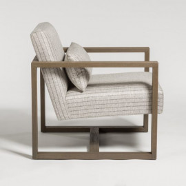 Driftwood & Twill Occasional Lounge Chair