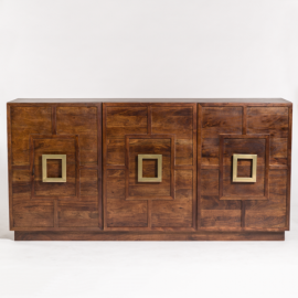 Mango Wood 3 Door Contemporary Sideboard