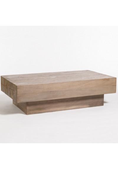Rustic Grey Ash Finish Mango Wood Rectangle Coffee Table