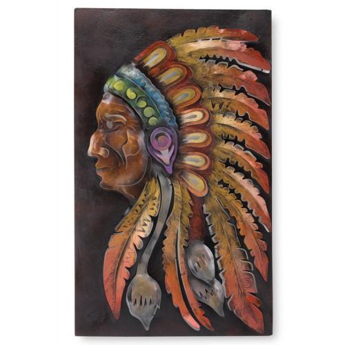 Apache Indian Handmade Metal Wall Art