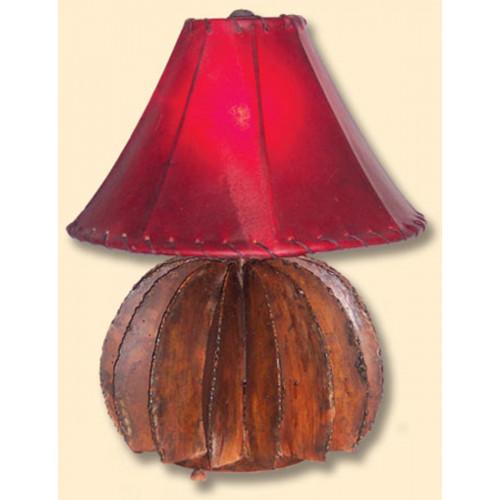 Barrel Cactus Table Lamp Iron Metal w/ Shade
