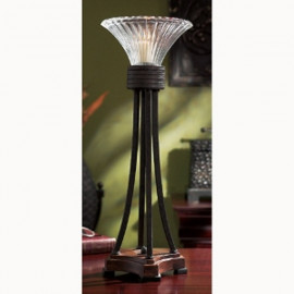 Tall Metal & Glass Candle Holder