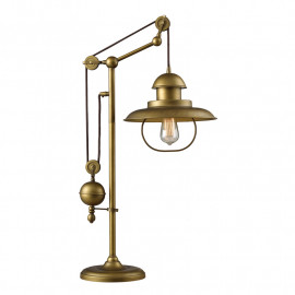 Brass Industrial Style Farmhouse Table Lamp