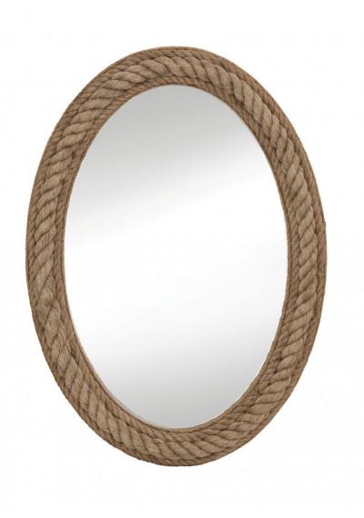 Nautical Oval Jute Rope Frame Wall Mirror