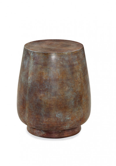Rustic Curved Vessel Resin Accent Side Table