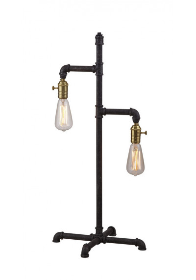 Industrial Farmhouse Metal Pipe Table Lamp
