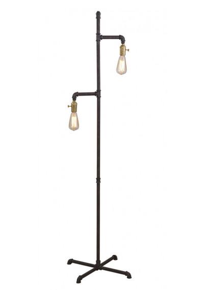 Industrial Farmhouse Metal Pipe Floor Lamp