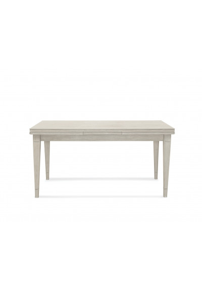 Rustic Weathered White Extendable Dining Table