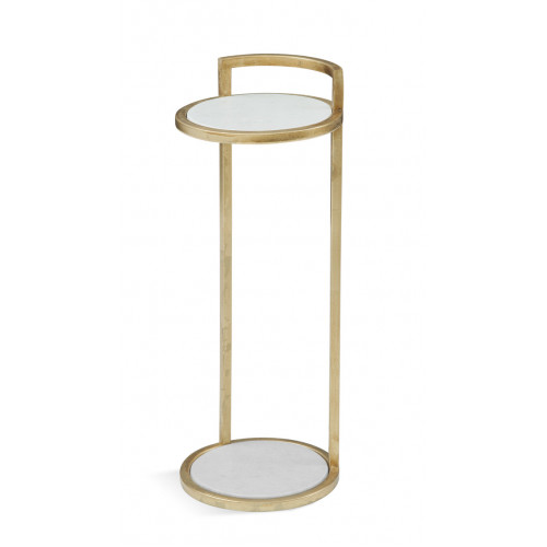 Slender Gold Martini Accent Side Table