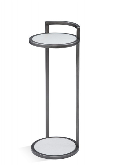 Slender Black Finish Martini Accent Side Table