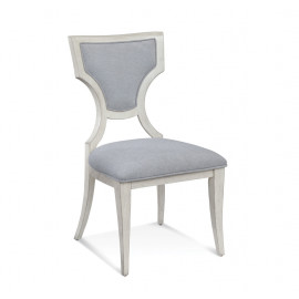 Antique Ivory White Finish Diamond Back Dining Chair