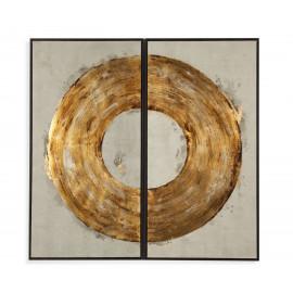 Golden Ring Framed Wall Art Set of 2