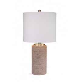 Jute Rope Wrapped Cylinder Table Lamp