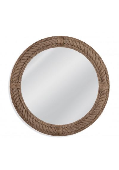 Nautical Round Jute Rope Frame Wall Mirror