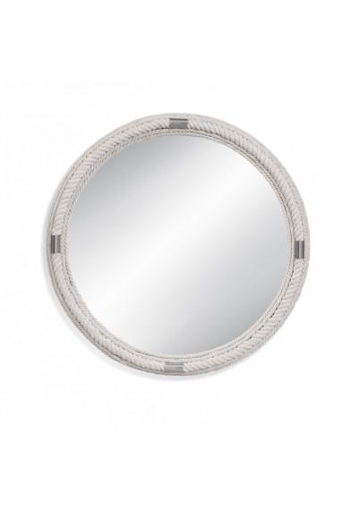 Nautical Round White Rope Wall Mirror