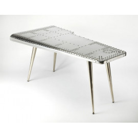 Silver Industrial Airplane Rivet Wing Office Desk