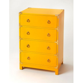 Bright Yellow Side Table Chest