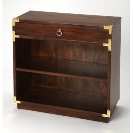 Mango Brown Bookcase Brass Hardware