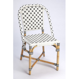Black & White Woven X Marks the Spot Bistro Chair