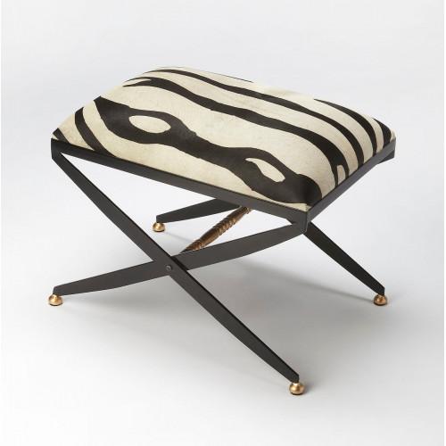 Zebra Leather Hide Beauty Seat