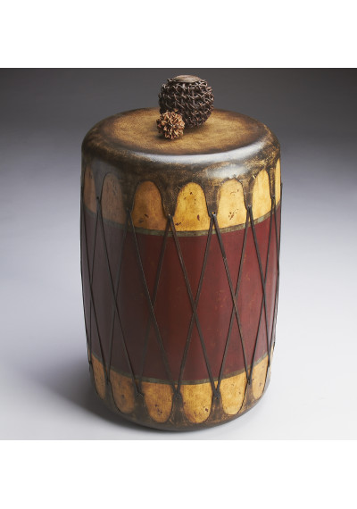 Southwestern Style Indian Drum Accent Side Table