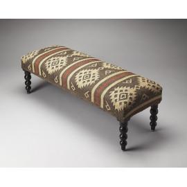 Southwestern Santa Fe Design Fabric Bench