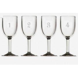 Plastic Numbered Wine Glasses Set of 12