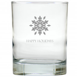Snowflake Happy Holidays Old Fashioned Glasses Set of 6