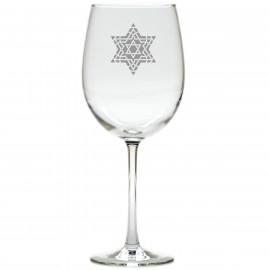 Star of David Hanukkah Wine Glasses Set of 8