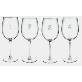 Numbered Wine Glasses Set of 12