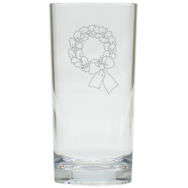 Holiday Wreath Drinking High Ball Glasses Set of 6