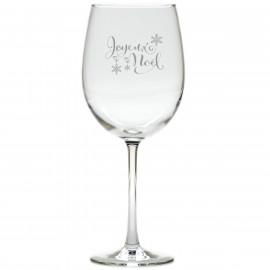 Joyeux Noel Christmas Wine Glasses Set of 8