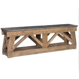 Farmhouse Reclaimed Pine Console Table Bluestone Top 2 Sizes
