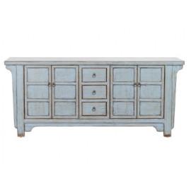 Light Blue Reclaimed Pine Sideboard Cabinet