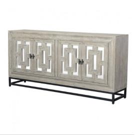 Grey Wash Mango & Mirror Sideboard Cabinet