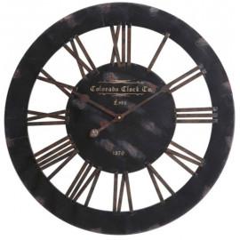 Black Distressed Wall Clock Vintage Styled