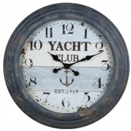 Nautical Yacht Club Rustic Wall Clock