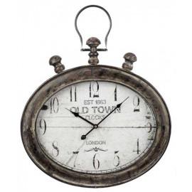 Distressed Rustic Pocket Watch Wall Clock