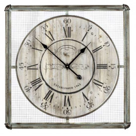 Rustic French Industrial Wall Clock