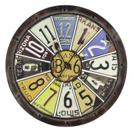 License Plate Rustic Wall Clock