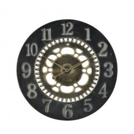 Round Black Metal Gears Industrial Wall Clock