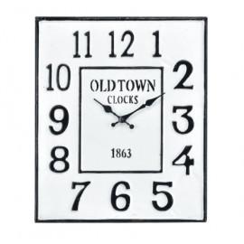 Black & White Metal Farmhouse Industrial Wall Clock
