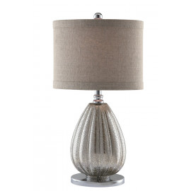Silver Sparkle Mercury Glass Table Lamp