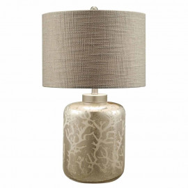 Silver Coral Mercury Glass Table Lamp
