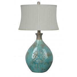 Aqua Blue Vase Table Lamp