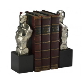 Silver Man Bust Bookends
