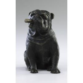 Cigar Smoking Bulldog Sculpture