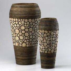Birch Wood & Walnut Vases 2